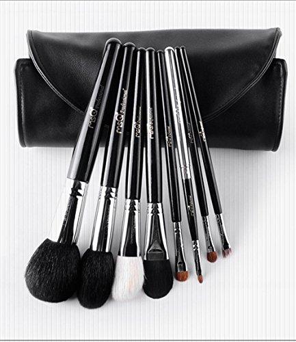 MSQ 8pcs pinceau de maquillage ensemble/avancé outils de maquillage à poils/débutant maquilleur outil de maquillage personnalisé portable