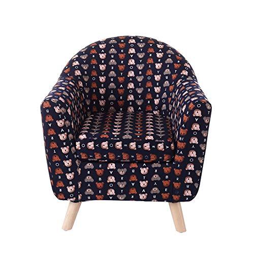 HAKN Sofa d'enfants, petit sofa mignon de dessin animé de siège de sofa de bébé mignon (Couleur : Blue bear)