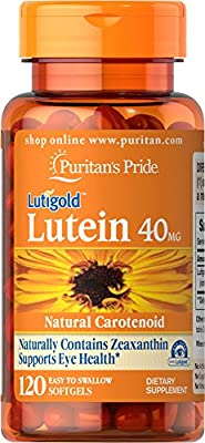 Puritan's Pride Lutein 40 mg with Zeaxanthin-120 Softgels from Puritan's Pride