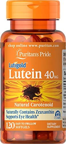 Puritans Pride Lutein 40 Mg with Zeaxanthin,60 Softgels, 60 Count