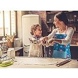 AYADA Schürze Kochschürze Küchenschürze Latzschürze Backschürze Grillschürze mit Taschen für Damen, Männer, Koch, Chef, Küche, Restaurant, Café, Polyester 60 x 70 cm (Grün) - 5