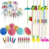 120 Pieces Cocktail Party Decorations,Paper Umbrella Sticks for Drinks Wedding Summer Party Food Drink Decorations Cocktail Accessories,Mixed Color