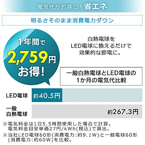 アイリスオーヤマLED電球E26広配光60形相当冷暖調色AIスピーカー音声操作LDA9D/L-G/D-86AITG