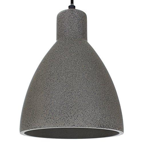 London Design industriale in cemento/ Lampada in gesso con incluso LED 10W E27bianco caldo Lampada a sospensione per soggiorno sala da pranzo, ristorante, cantina, ecc. Retro Beton-Dunkel