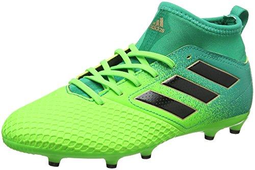 Adidas Ace 17.3 FG J, para los Zapatos de Entrenamiento de fútbol Unisex Niños, Verde (Versol/Negbas/verbas), 28 EU