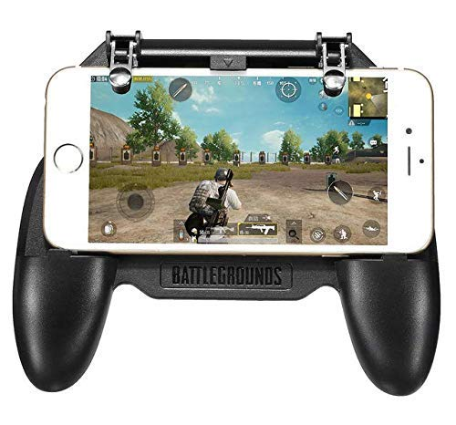 W-10 PUBG Game Controller 2 in 1 Game Controller and Mobile Gamepad Holder Handle Joystick Triggers L1 R1 Shoot Aim Button by Suckey