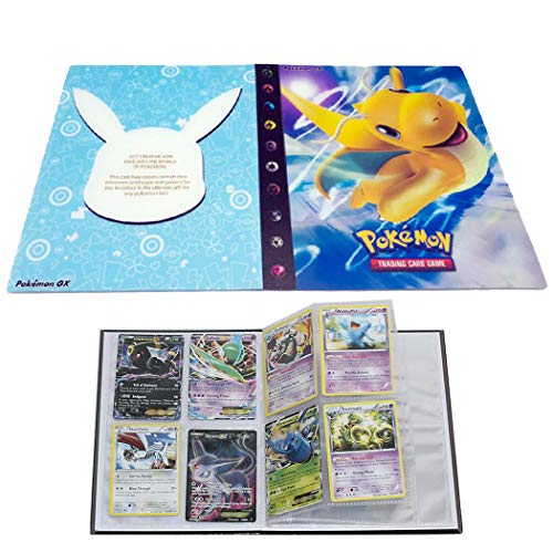 Trading Cards Album Book Best Protection Cards Binder Cards Holder Album for Pokemon - GX EX Box (Dragonite)