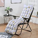 XCTLZG Cojines suaves y cómodos para silla, cojín antideslizante para banco de tumbonas de jardín con lazo de fijación, práctico cojín de asiento para jardín al aire libre, columpio de patio