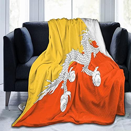 Bhutan-Flagge Flanelldecke flauschig bequem warm leicht weich Überwurf Decken Sofa Couch Schlafzimmer Decke