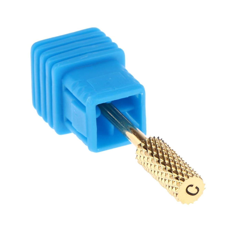 仕様以下ほうきgazechimp 電気マニキュアドリルビットヘッド 研削ヘッド ネイルケアのため 全4サイズ - C