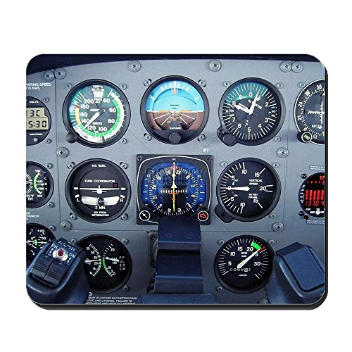 CafePress - Kleine Cessna Vliegtuig Instrument Panel - Anti-slip Rubber Mousepad, Gaming Mouse Pad