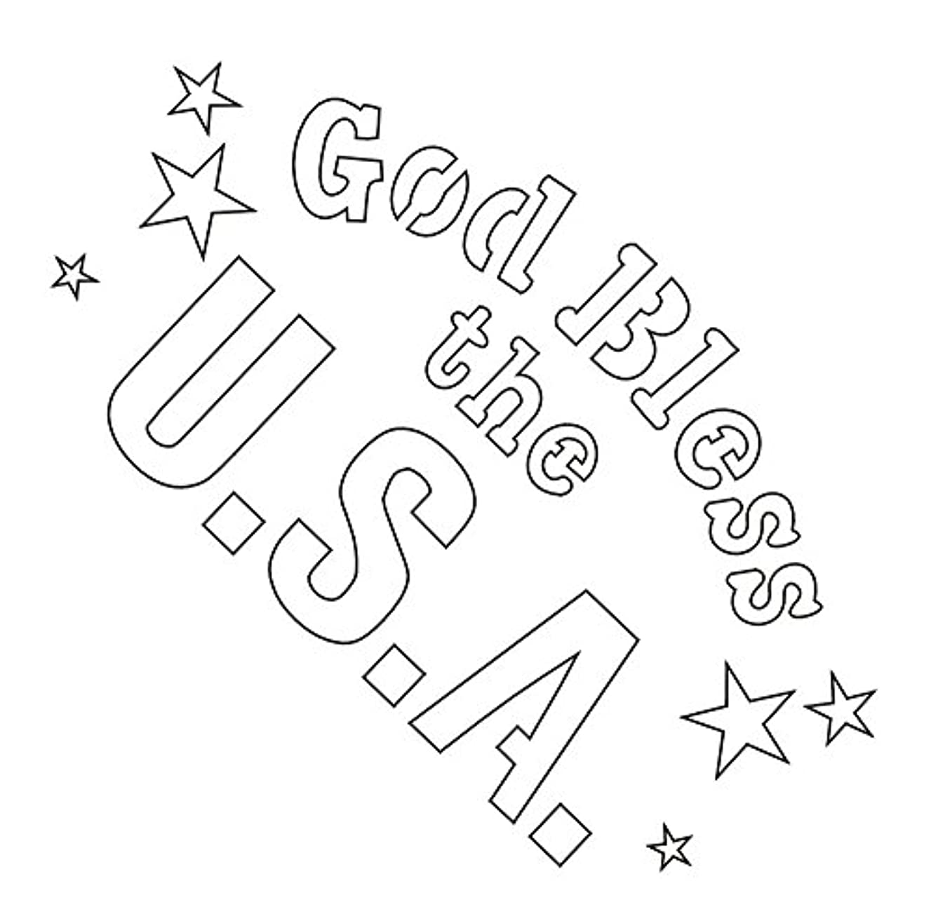 Badger Totally Tattoo Body Art Stencils God Bless The Usa-22-747