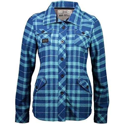 Mons Royale Mountain T-Shirt pour Femme L Oily Blue/Tropicana