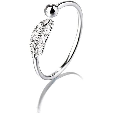 Cute Unique Lucky Little Feather 925 Sterling Silver Stud Earrings, Feather Earrings for Women,Leaf Stud Earrings for Women Teen Girls …