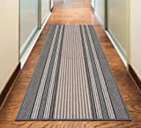 Rugs Superstore NEW GREY SILVER ANTHRACITE COLORFUL MODERN WASHABLE NON SLIP KITCHEN UTILITY HALL LONG RUNNER DOOR MAT RUG (5 66x120cm (2'2'x4'))
