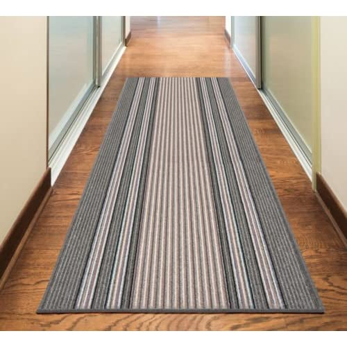 Rugs Superstore NEW GREY SILVER ANTHRACITE COLORFUL MODERN WASHABLE NON SLIP KITCHEN UTILITY HALL LONG RUNNER