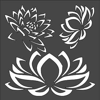 Custom Stencil Flower Lotus 5.5 x 5.5