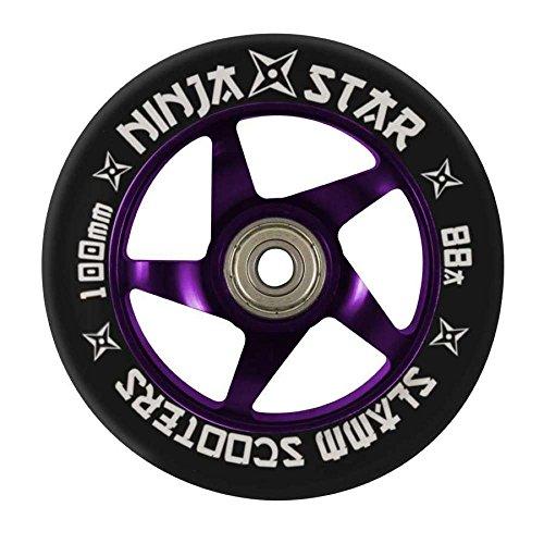 Slamm Scooters Ninja Roue pour trottinette de compétition Roulements à billes ADEC7 inclus Violet Violet