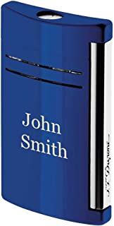 Personalized S.T. Dupont MaxiJet Midnight Blue Torch Flame Lighter With Free Laser Engraving