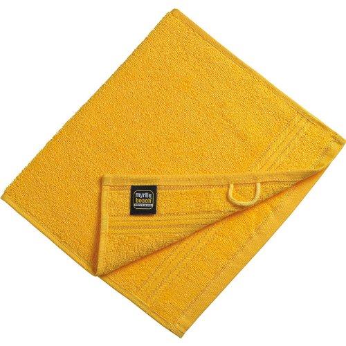 Myrtle Beach - lot 3 serviettes de toilette invité - jaune d'or - 30 x 50 cm - MB420