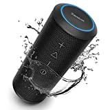 Foto Zamkol Altoparlante Bluetooth Portatile 5200mAh, 24W Cassa Wireless Speaker, IPX6 Bass Stereo Speaker, Bluetooth & AUX & TWS connection, Dual Driver, Microfono incorporato, per Indoor, outdoor, travel