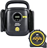 Tyre Inflator Air Compressor Car Electric Tyre Pump,Digital Display,12V Portable Air Pressure Pump with Handle for Car Bicycle Motorcycle Ball and Other Inflatables with Free 8m Tape