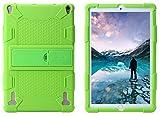 AKNICI Silikon Hülle Case Tasche, Kompatibel für YOTOPT 10 Zoll X109/DUODUOGO 10 P8/Novel TTT 10/Qimaoo T104/ZONMAI 10/HMAI 10/Kivors 10,1/Haehne 10,1/JINYJIA 10.1 Zoll Tablet PC Etc - Hellgrün