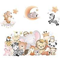 漫画の動物の子供部屋の装飾ステッカー寝室ソファ背景壁紙