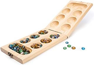 Wooden Folding Mancala Game Board Game Travel Game