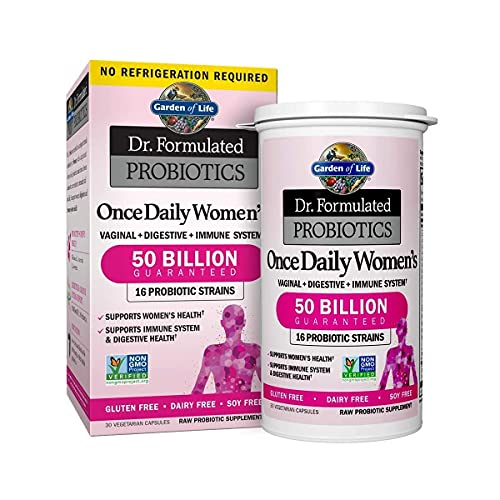 Garden of Life Probiotic Supplement Capsules for Women, Dr. Formulated Once Daily for...