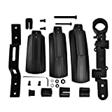 Vbestlife Bicycle Mudguard, Front Back Rear Tire Mud Guards Kit Quick Release Bike Fenders Set for Road Mountain Bike Outdoor Cycling Black
