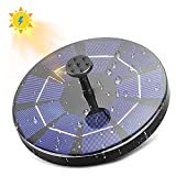 [Battery Backup Available] Solar Bird Bath Fountain Pump, 3W Solar Powered Bionic Water Fountains Pump with 16 Nozzle Accessories, Floating Fountain Pump for Birdbath, Pool, Aquarium and Garden