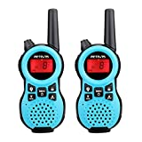 Retevis RT38 Walkie Talkies for Kids, Toys Gifts for 4-12 Year Old Kids,Battery Powered Flashlight VOX Kid Walkie Talkie,Ideal for House,Park,Camping and Gifts(Blue, 2 Pack)