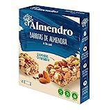 El Almendro - Barritas de Almendra a la Sal - 4x21 gr - Sin Gluten - Sin Aceite de Palma - Alto Contenido en Fibra