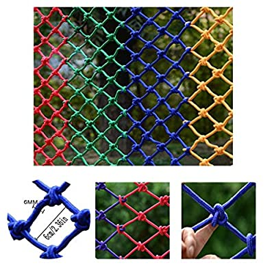 Balcony Anti-Fall Net Provide Net Protection for Children Protective Fence Net Climbing Hammock Swing Net Protective Safety Rope Net Grid 60x60mm 6MM (Size : 1x3m)