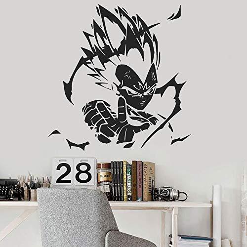 yaonuli Anime Apliques de Pared de Vinilo decoración del hogar Personaje póster de Pared Ventana extraíble Vinilo Pegatina Arte 75X77cm