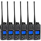 Walkie Talkie Long Range, SAMCOM FPCN30A 5 Watts UHF Portable Handheld Ham Two Way Radio Rechargeable, 6 Packs