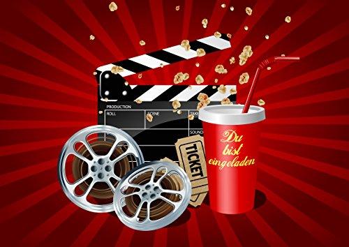 10 Kino-Einladungen (Set 2) / Geburtstagseinladungen Jungen Mädchen Kinder: 10-er Set Kino-Einladungskarten für den nächsten Kindergeburtstag im Kino von EDITION COLIBRI © (10716)