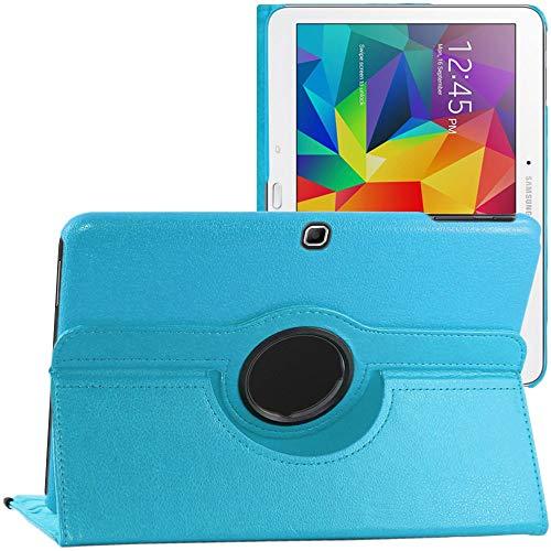 ebestStar - kompatibel mit Samsung Galaxy Tab 4 10.1 Hülle SM-T530, T533 T531 T535 Rotierend Schutzhülle Etui, Schutz Hülle Ständer, Rotating Hülle Cover Stand, Blau [Tab:243.4x176.4x8mm 10.1