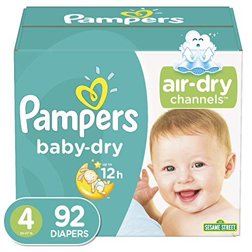 Price comparison product image Diapers Size 4,  92 Count - Pampers Baby Dry Disposable Baby Diapers,  Super Pack