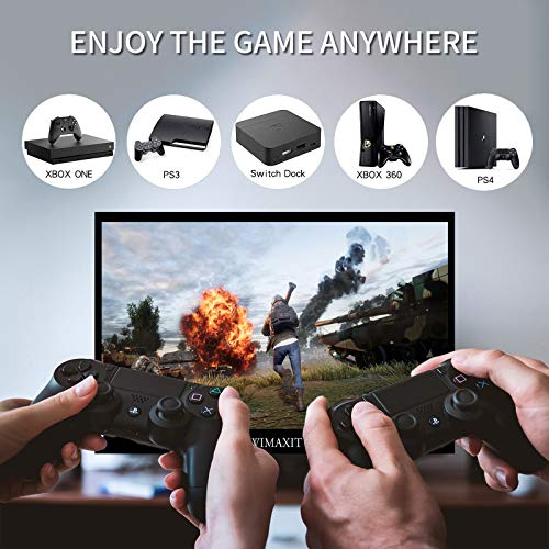 WIMAXIT 14 Zoll Touch Tragbarer Monitor, 1920 × 1080 Full HD IPS-Erweiterungsbildschirm mit 98% sRGB- und 2 USB C-Anschlüssen 400 cd /m2, HDMI PC Monitor mit zwei Lautsprechern Inklusive Smart Cover