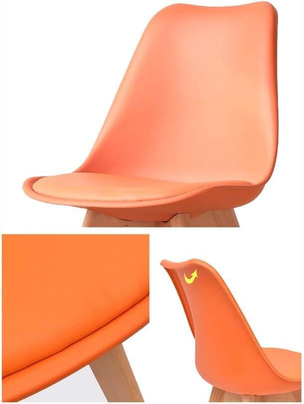 Chaise en bois massif Chaise de salle à manger simple (coton et lin respirant, pieds de tabouret en bois massif, assise confortable) (Couleur : Gray) Gray
