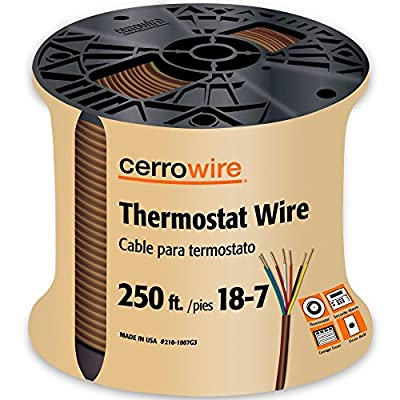 CERRO 210-1002BR Feet 18/2 Thermostat Brown Wire, 50-Foot, 18-Gauge, 2 Ground