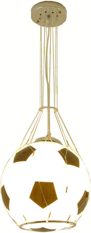 Zhang Yan ZYY Kid 'Schlafzimmer Glas Schwarz Fuball Mit Weiem Netz Deckenpendelleuchte Kreative Fuball Kinderzimmer Deckenpendelleuchten Spielzimmer Balkon Flur Esszimmer Glas Deckenpendelleuchte