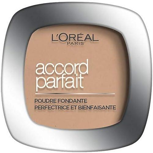 L'Oréal Paris - Poudre Fondante Accord Parfait - Peaux Normales à Mixtes - Teinte : Beige Doré (3.D) - 9 g