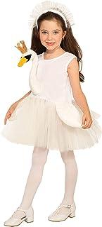 Forum Novelties Girl's Swan Ballerina Costume Dress, White, Toddler