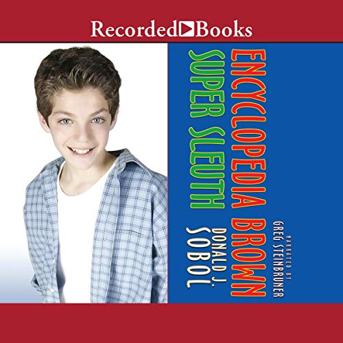 Encyclopedia Brown Super Sleuth audiobook cover art