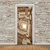 Papel Pintado de Puerta 3D Creativo Adhesivo de Pared Autoadhesivo para Sala de Estar decoración de Dormitorio Mural decoración del hogar calcomanía DIY A3 95x215cm