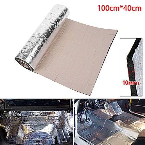 Mayyou insonorizzazione Auto,Automotive mortificante Parete Pannelli,10mm Fibra di Carbonio Suono Isolato Tubo Macchina Copertura Isolamento Cotone 100 x 40cm