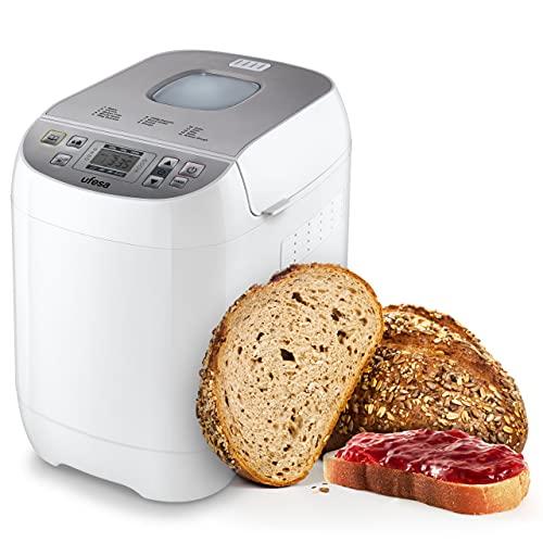 Ufesa BM6000 MYBAKERY Macchina per il pane, 3 taglie per pane (500 g/750g/1000 g), 14 programmi,